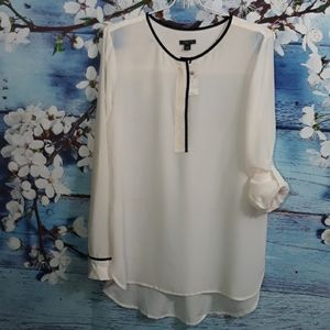 ANN TAYLOR Long Sleeve Blouse 100% Silk | Size S
